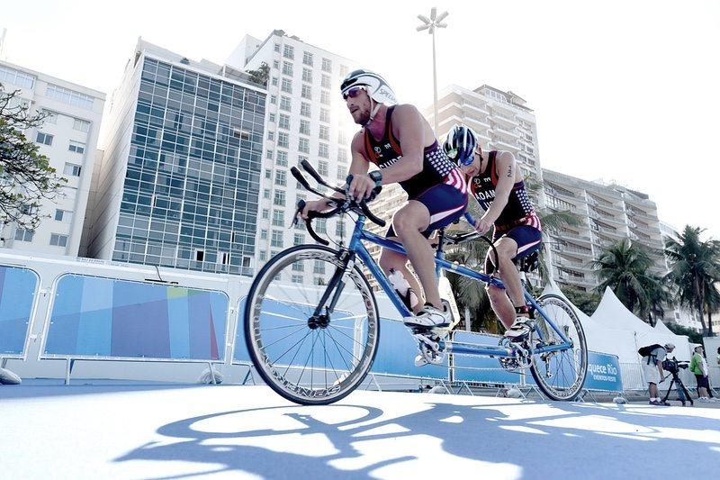 Paratriathlon racing in Rio - photo credit ITU-Delly Carr
