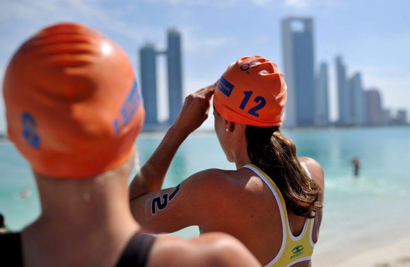Triathletes in Abu Dhabi - photo credit ITU-Janos Schmidt