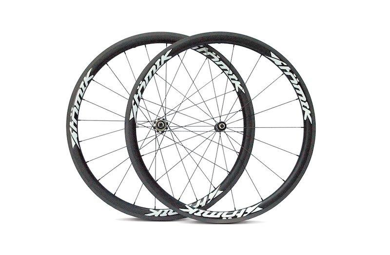 Atomik Carbon 38c Road Wheels - Side Profile