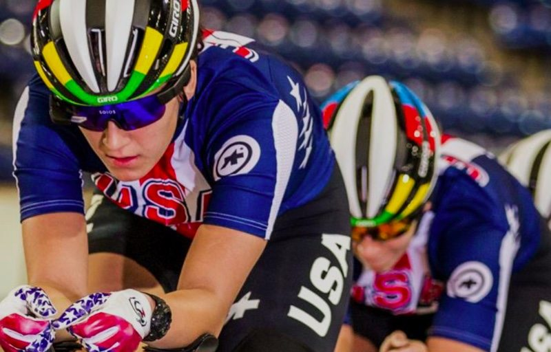 USA Cycling and Solos smart eyewear - Chloe Dygert 2016 World Champion and Olympic Team Member - Photo- Philip Beckman
