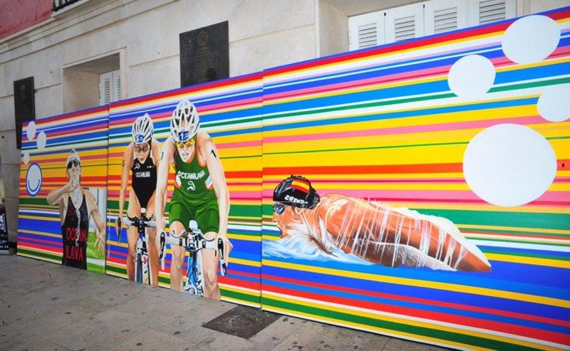 Triathlon mural - Ocean Lava Aranjuez