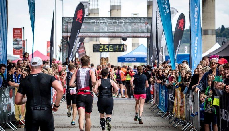 Cardiff Triathlon finish line