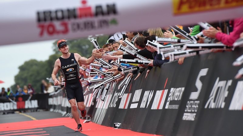 DUBLIN, IRELAND - AUGUST 14: Ben Collins of USA wins the IRONMAN 70.3 Dublin triathlon event on August 14, 2016 in Dublin, Ireland. (Photo by Charles McQuillan/Getty Images for Ironman)