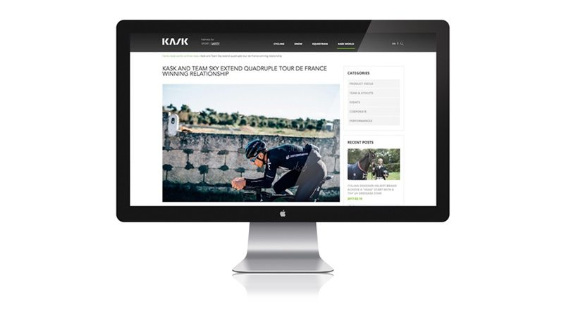 New Kask website