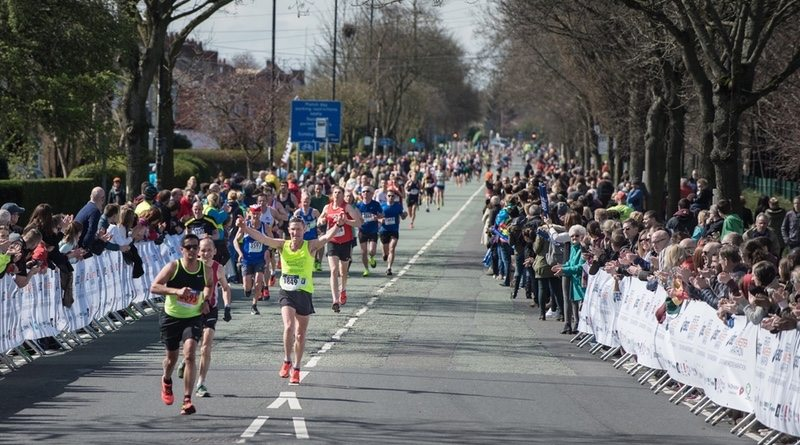 ASICS Greater Manchester Marathon 2016 - runners and crowd support