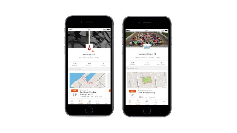 New Strava Club Events for mobile