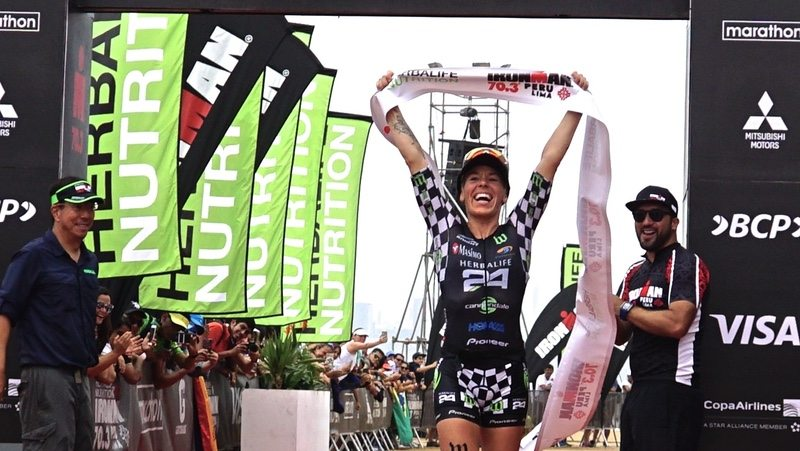 Herbalife sponsored Heather Jackson wins IRONMAN 70.3 Peru
