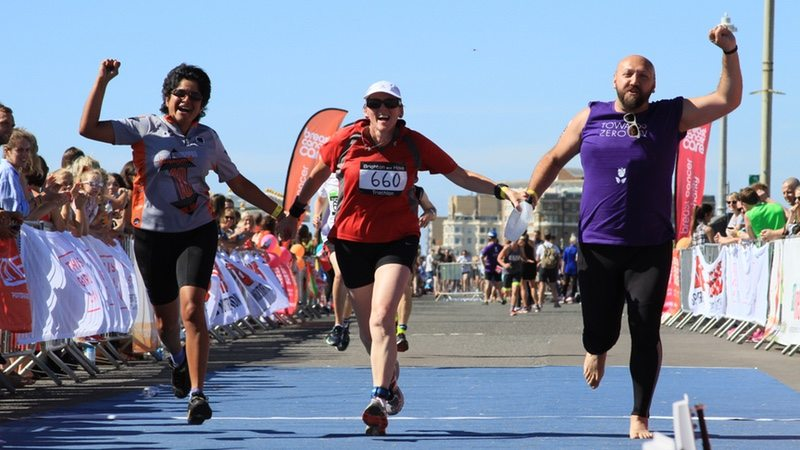 Stonewall supports athletes at Brighton and Hove Triathlon
