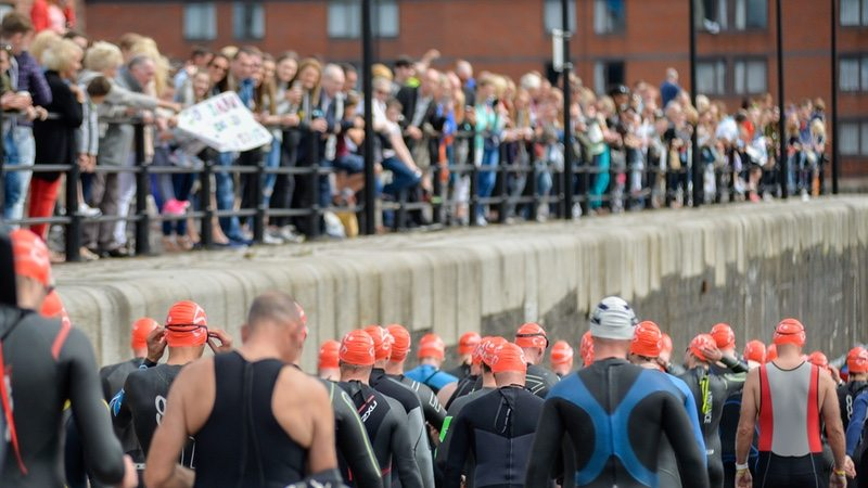 Tri Liverpool swim start 2016 - photo credit British Triathlon - Paul Cooper