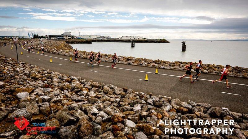 Cardiff Triathlon run - photo credit Lighttrapper Photography