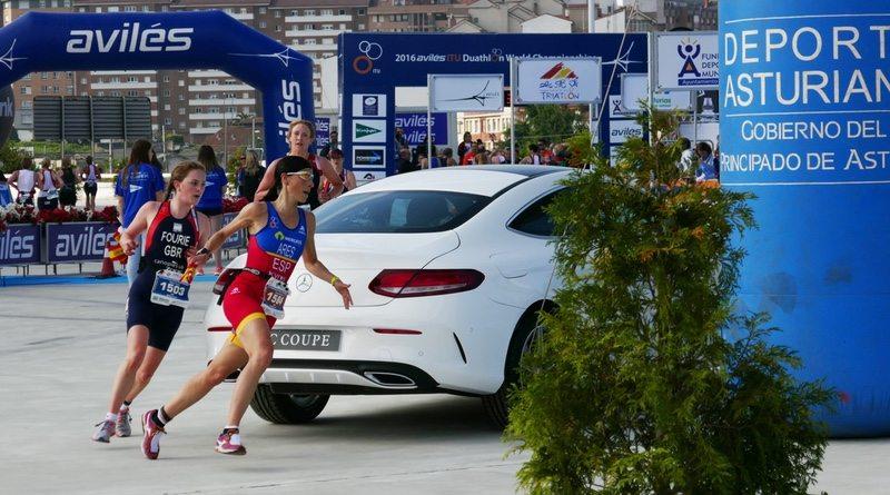 British triathlete Blythe Fourie - run