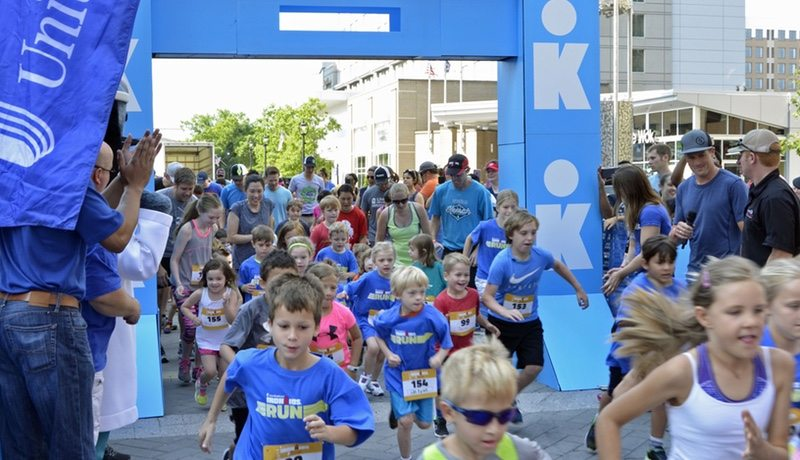 IronKids FunRun located on Fayetteville Street in Raleigh, N.C. on Saturday June 3, 2017. (Photo by Marc J. Kawanishi, Genesis Photo Agency)