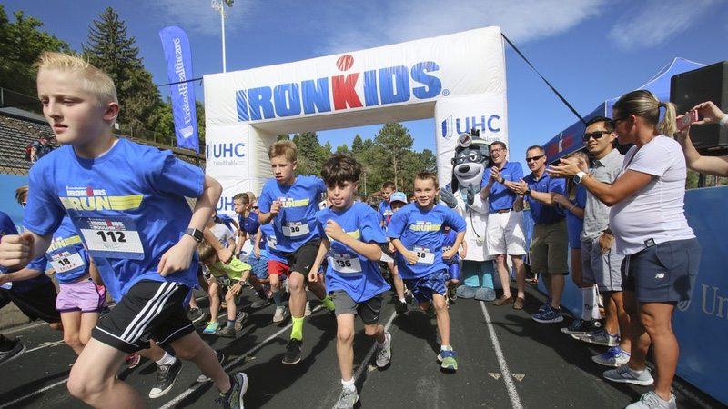 United Heathcare joins The Iron Man Kids at Boulder High School in Boulder High School, Colo., Saturday, June 10, 2017. (Photo by Bear Gutierrez)