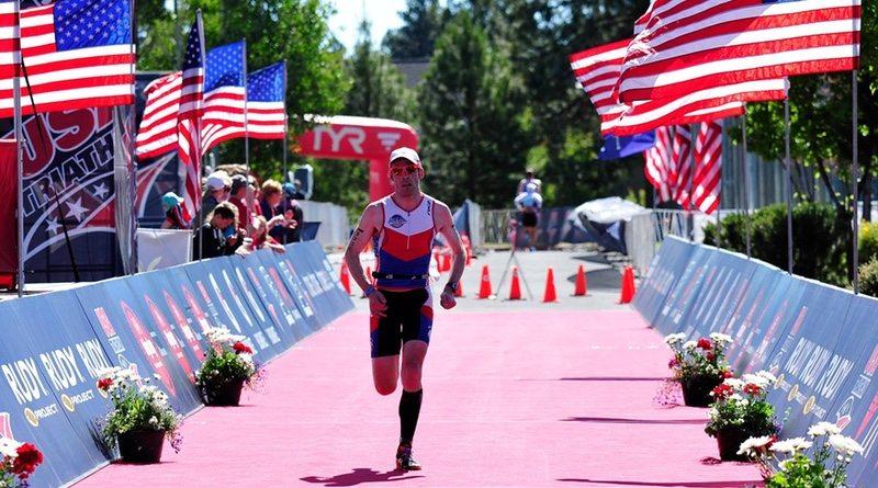 USA Triathlon - athlete nears finish line - photo credit Rich Cruse - Crusephoto.com