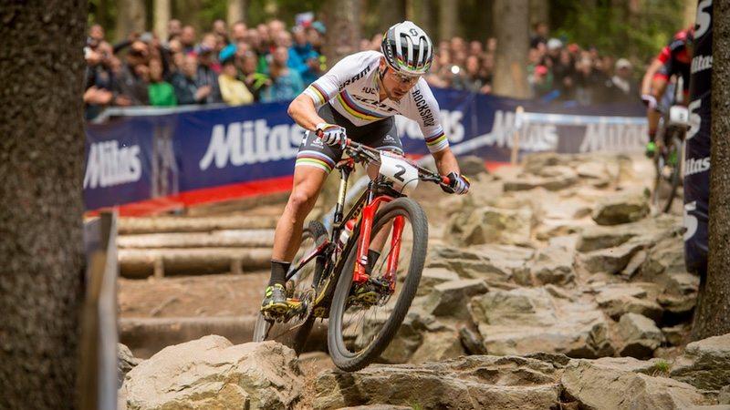 UCI rider on RockShox - Photo Credit - Thomas Weschta