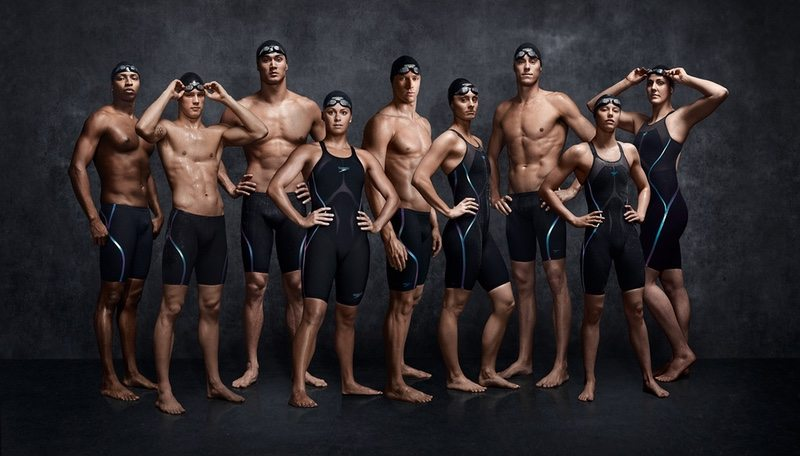 SPEEDO USA athletes - Jones, Cordes, Adrian, Beisel, Murphy, Meili, Dwyer, Flickinger, Franklin - photo credit Business Wire