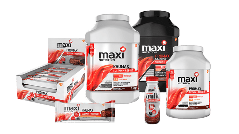MaxiNutrition product range at Wiggle