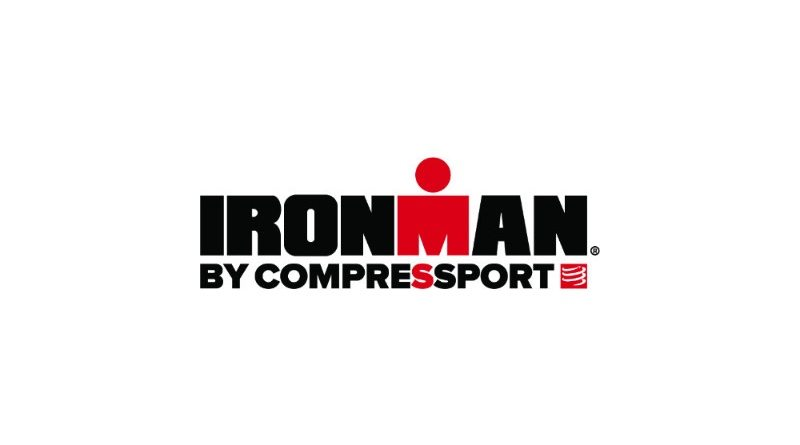 Co-branded IRONMAN by COMPRESSPORT logo