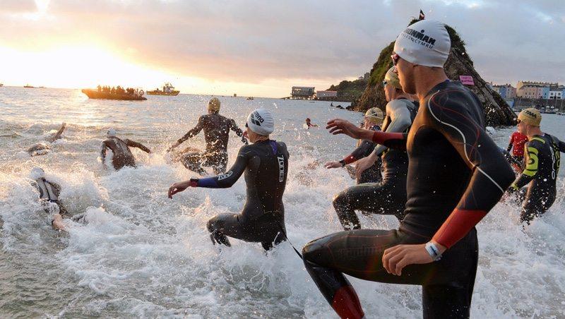 IRONMAN Wales swim start