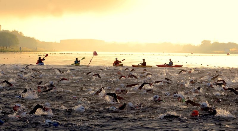 Outlaw swim start - photo credit OSB Events