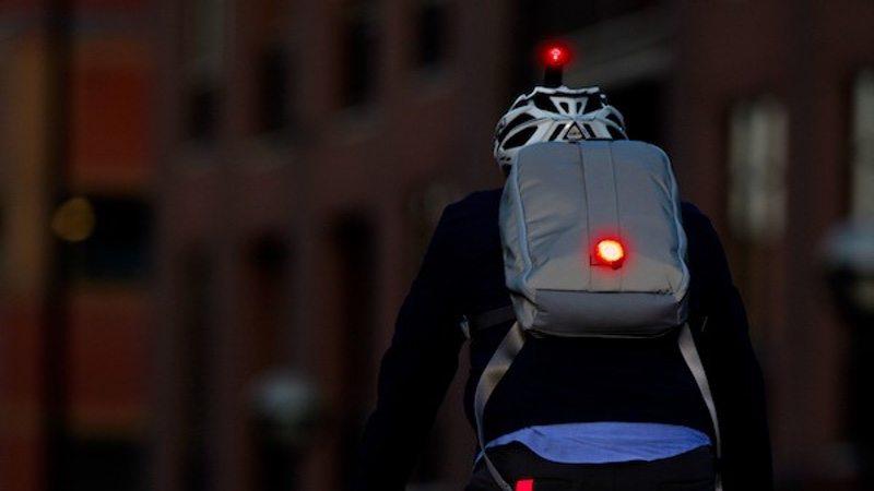 CatEye lights on rider
