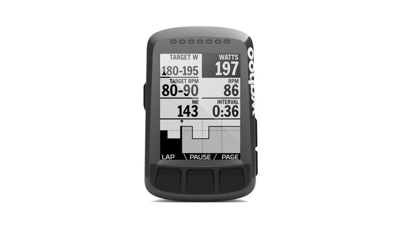 Wahoo Planned Workout - BOLT display
