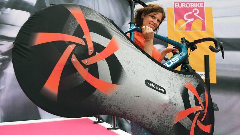 VELOSOCK indoor bike cover at EUROBIKE 2017