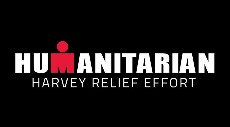 IRONMAN Harvey Relief campaign logo