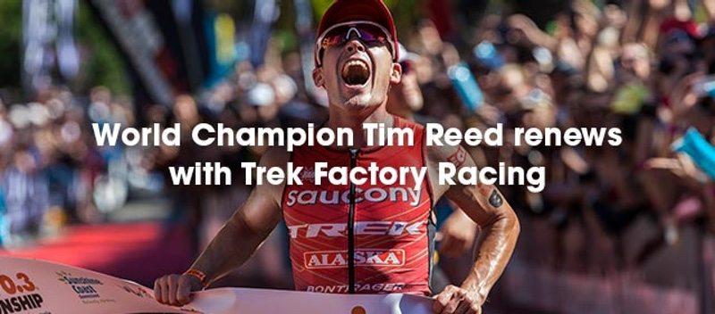 IRONMAN 70.3 World Champion Tim Reed renews with Trek
