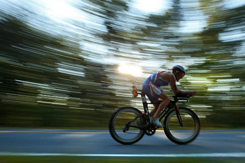 CHATTANOOGA, TN - SEPTEMBER 10: Stephane Gomez #1362 of France competes in the IRONMAN 70.3 Men's World Championship on September 10, 2017 in Chattanooga, Tennessee. (Photo by Patrick Smith/Getty Images for IRONMAN)