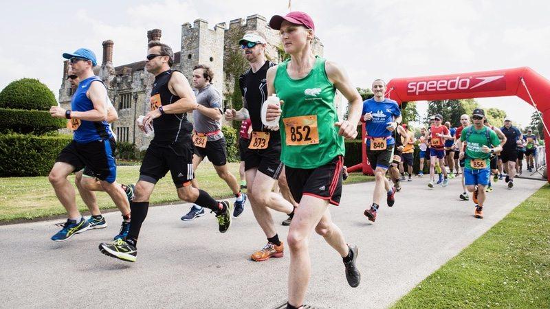 Castle Triathlon Series - half marathon runners