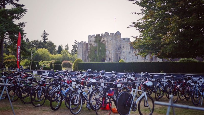 Transition at Castle Triathlon Series event