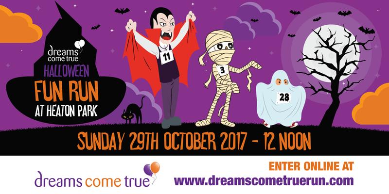 Dreams Come True Halloween Fun Run banner