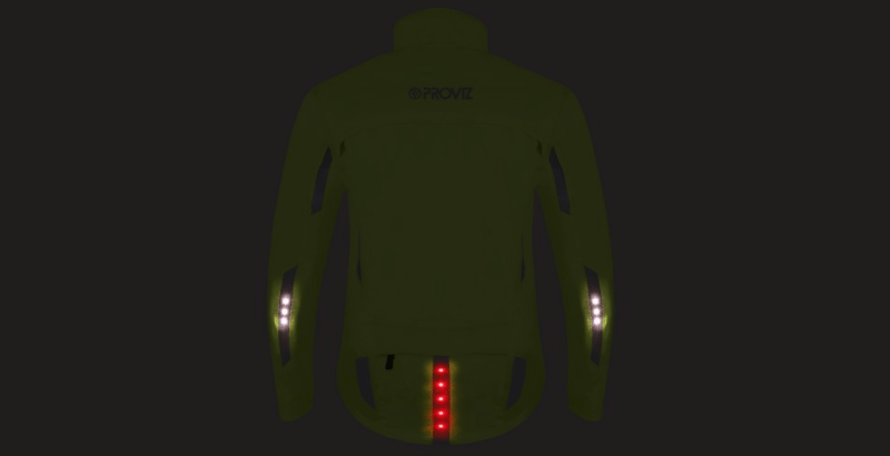 Proviz Nightrider LED Cycling Jacket - rear lights