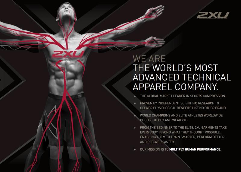 2XU tagline - the world's most advanced technical apparel company