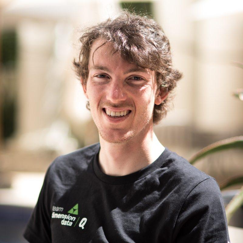 Team Dimension Data Zwift Academy winner Ollie Jones