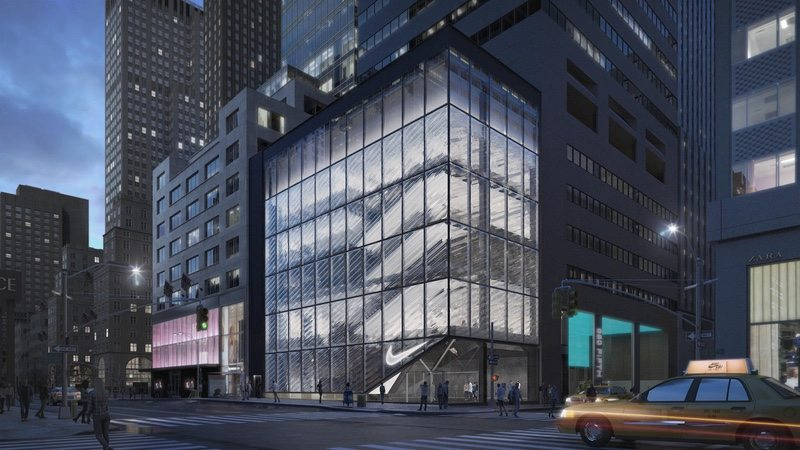 Artist impression of new Nike retail store in NYC - photo Nike