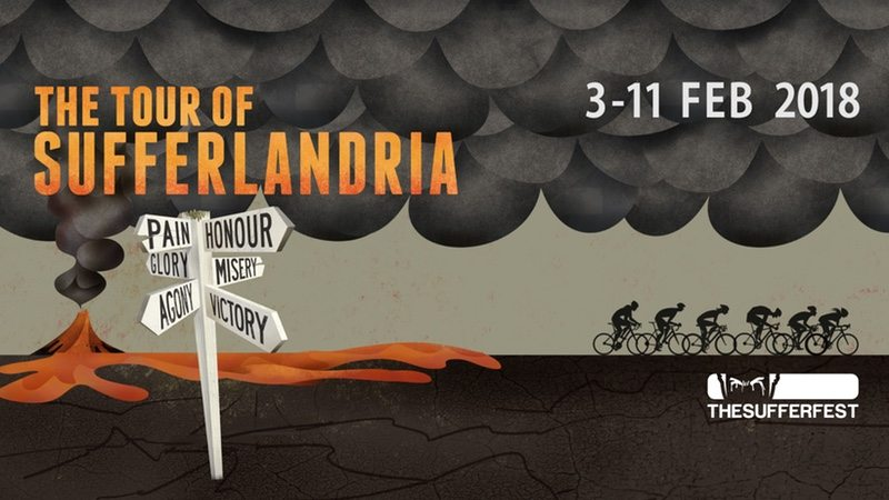 2018 Tour of Sufferlandria banner - The Sufferfest