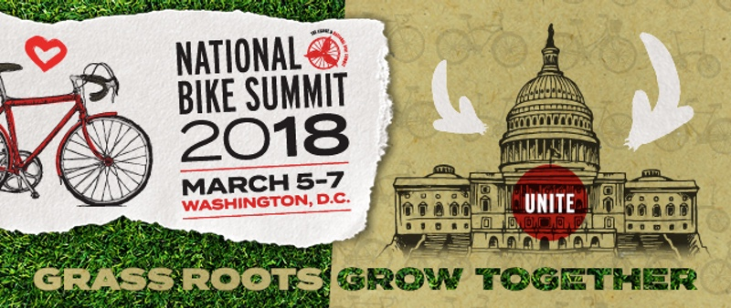 League of America Bicyclists - 2018 National Bike Summit banner