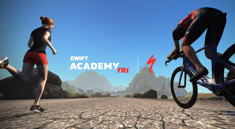 Zwift and Specialized Triathlon Academy logo