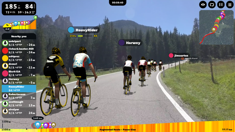 Rouvy 'Augmented Routes' open up the outdoors to indoor bike