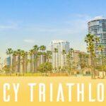 Inaugural Legacy Triathlon getting under way in Long Beach, California