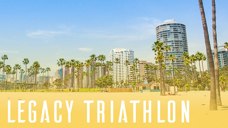 Inaugural Legacy Triathlon getting under way in Long Beach
